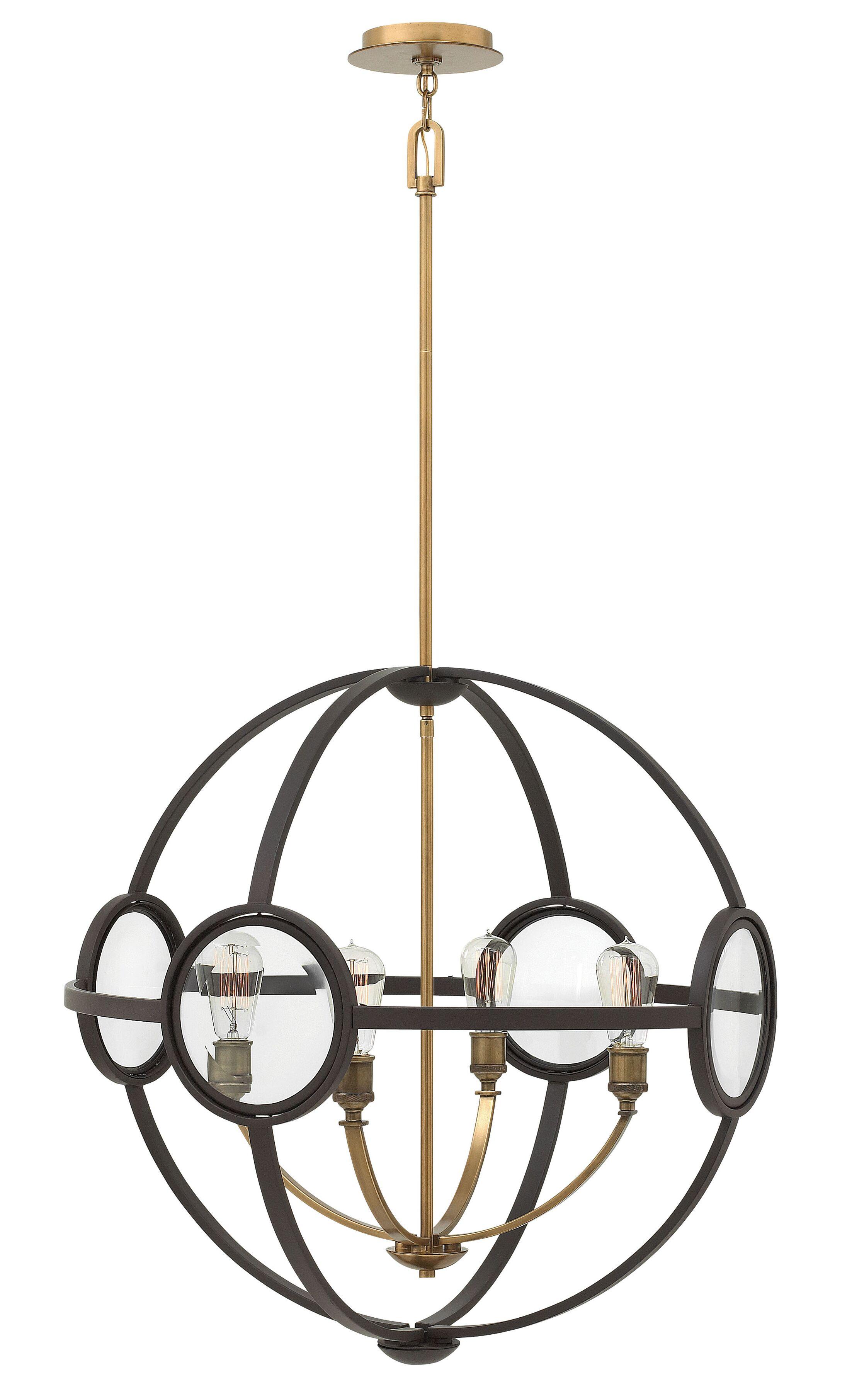 Propes 4-Light Globe Chandelier Finish: Buckeye Bronze