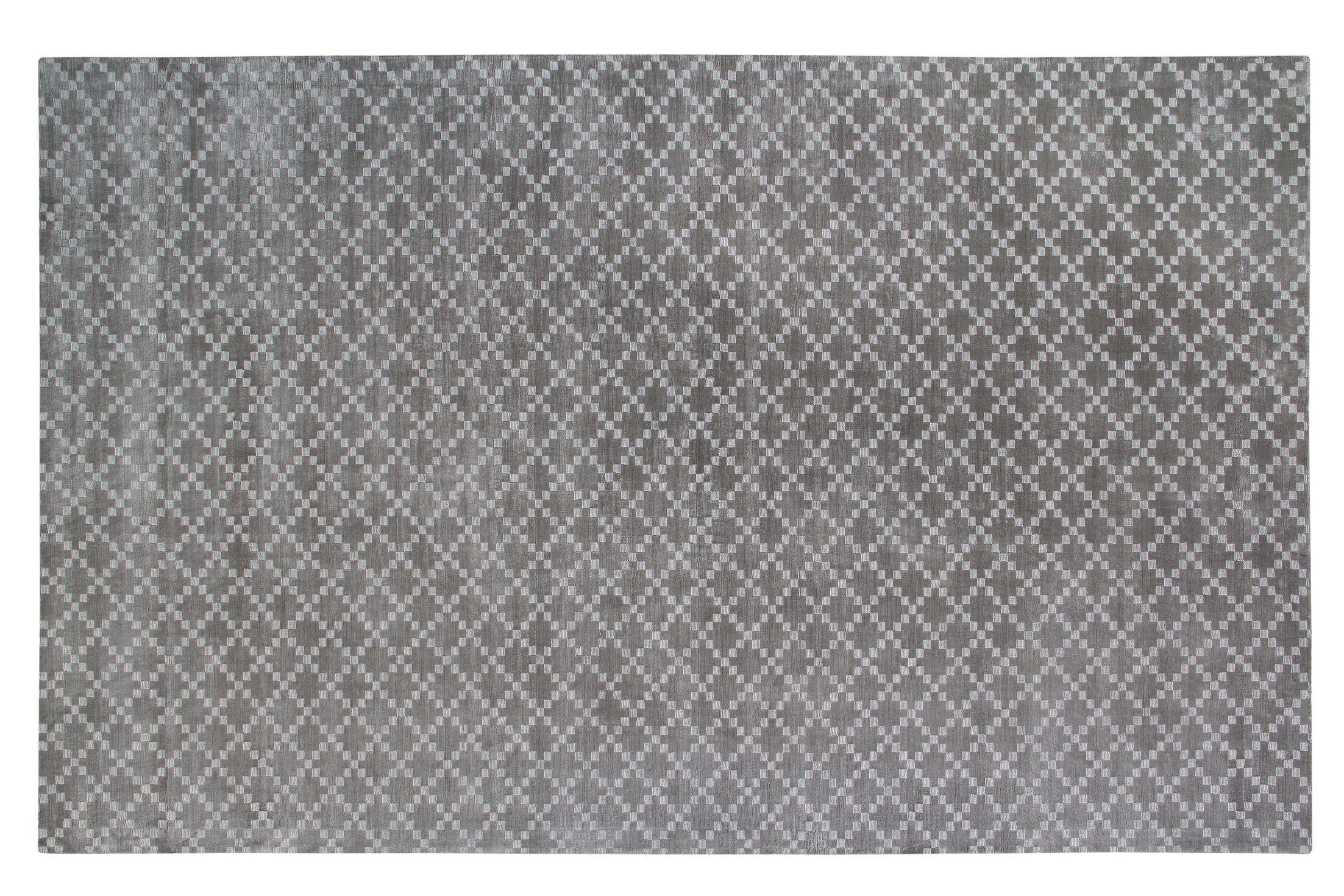 Teressa Diamond Hand-Woven Wool Gray Area Rug Rug Size: Rectangle 5'x 8'