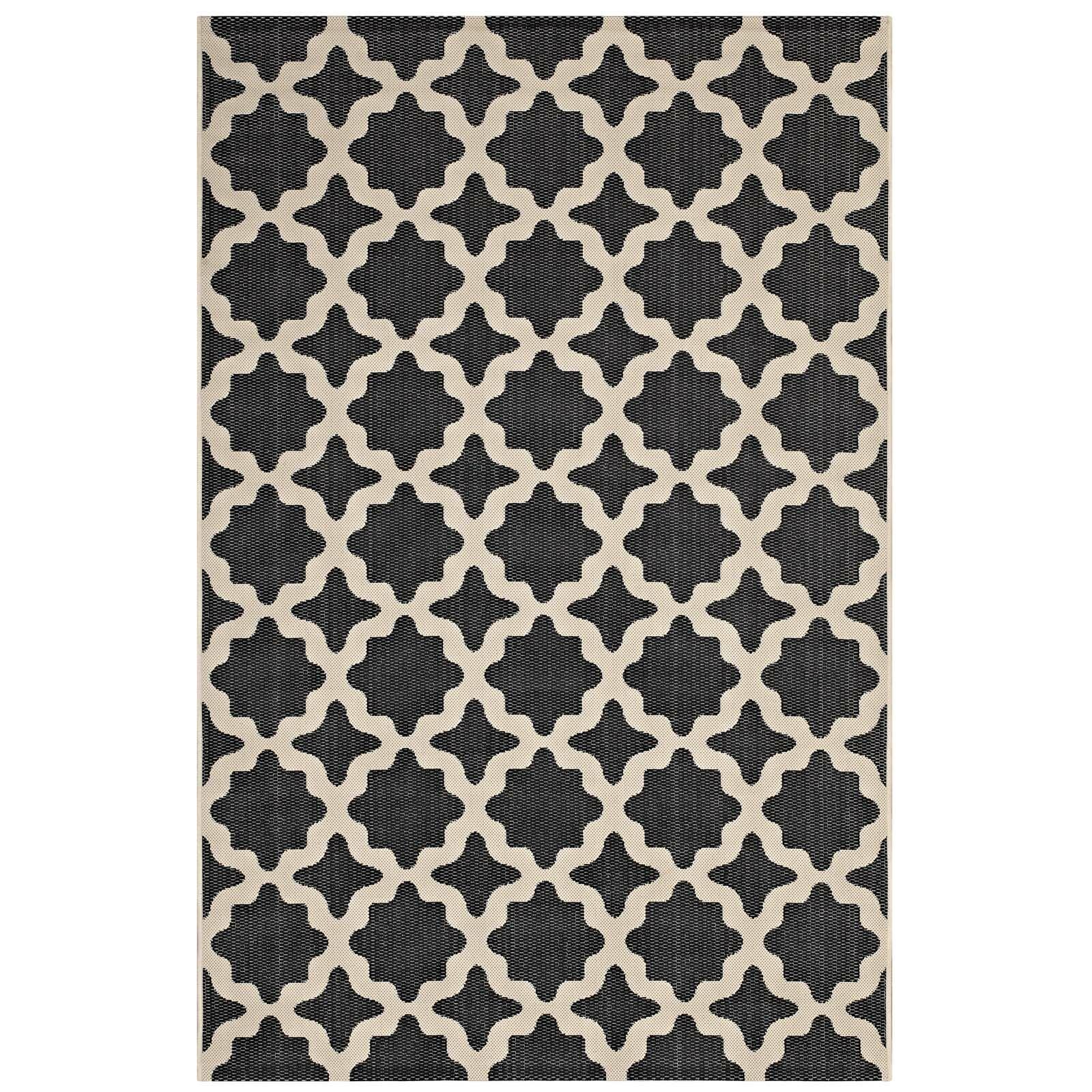 Hervey Bay Moroccan Trellis Black/Beige Indoor/Outdoor Area Rug Rug Size: Rectangle 5' x 8'