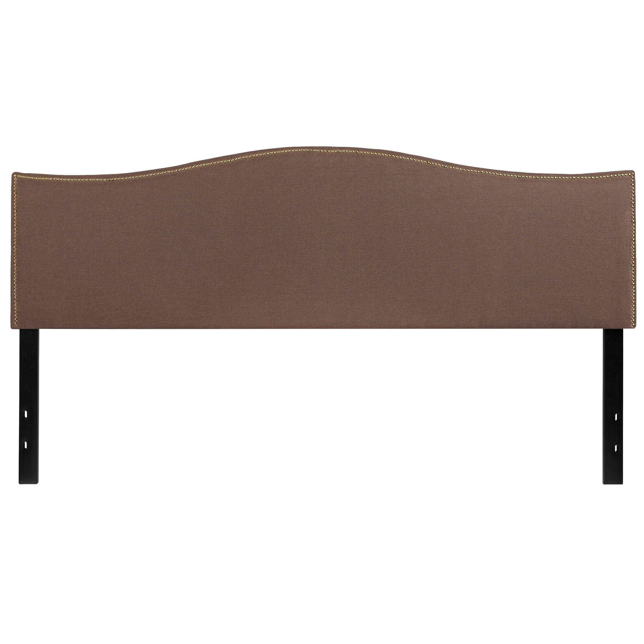 Fitzsimmons Upholstered Panel Headboard Upholstery: Camel, Size: Full