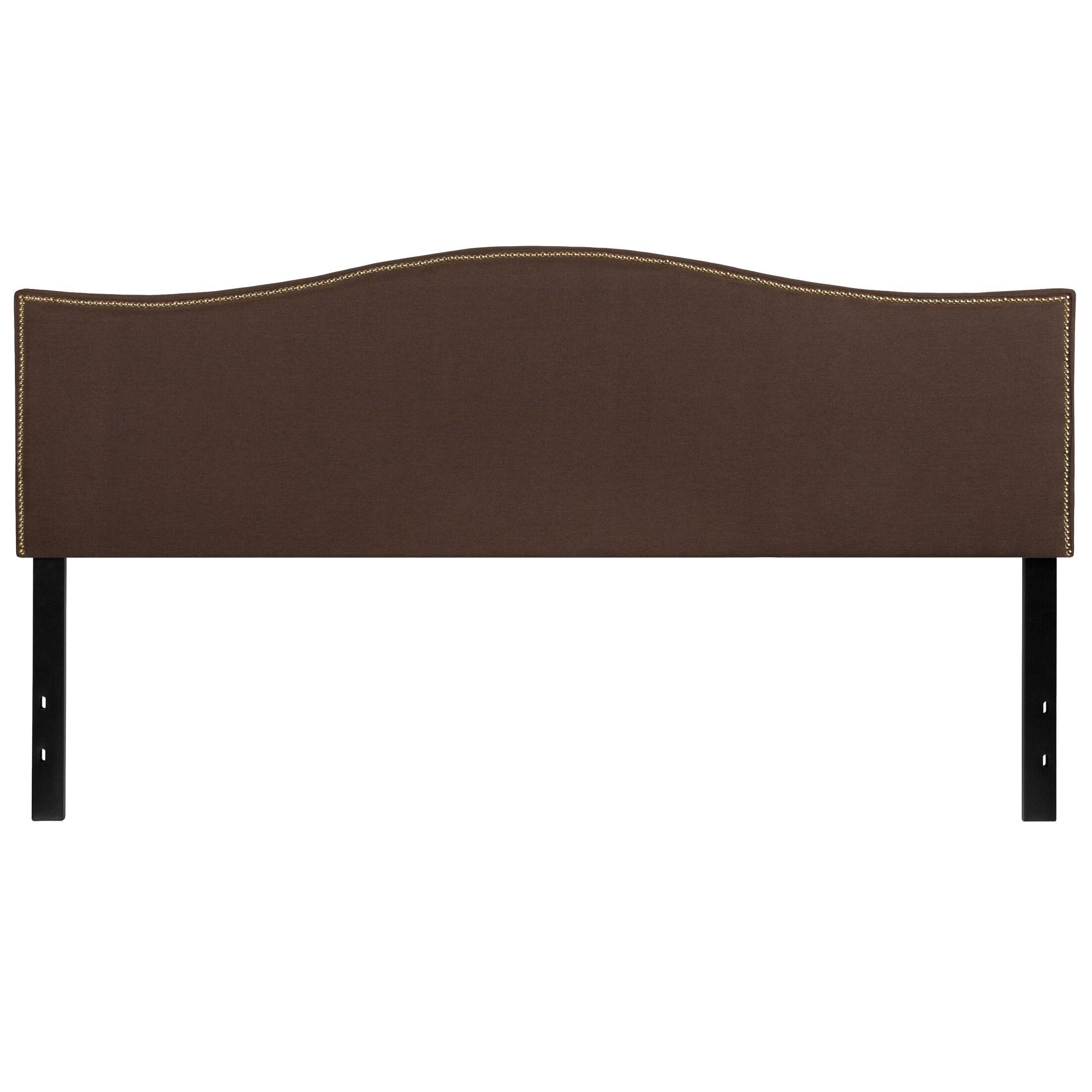 Fitzsimmons Upholstered Panel Headboard Upholstery: Dark Brown, Size: King