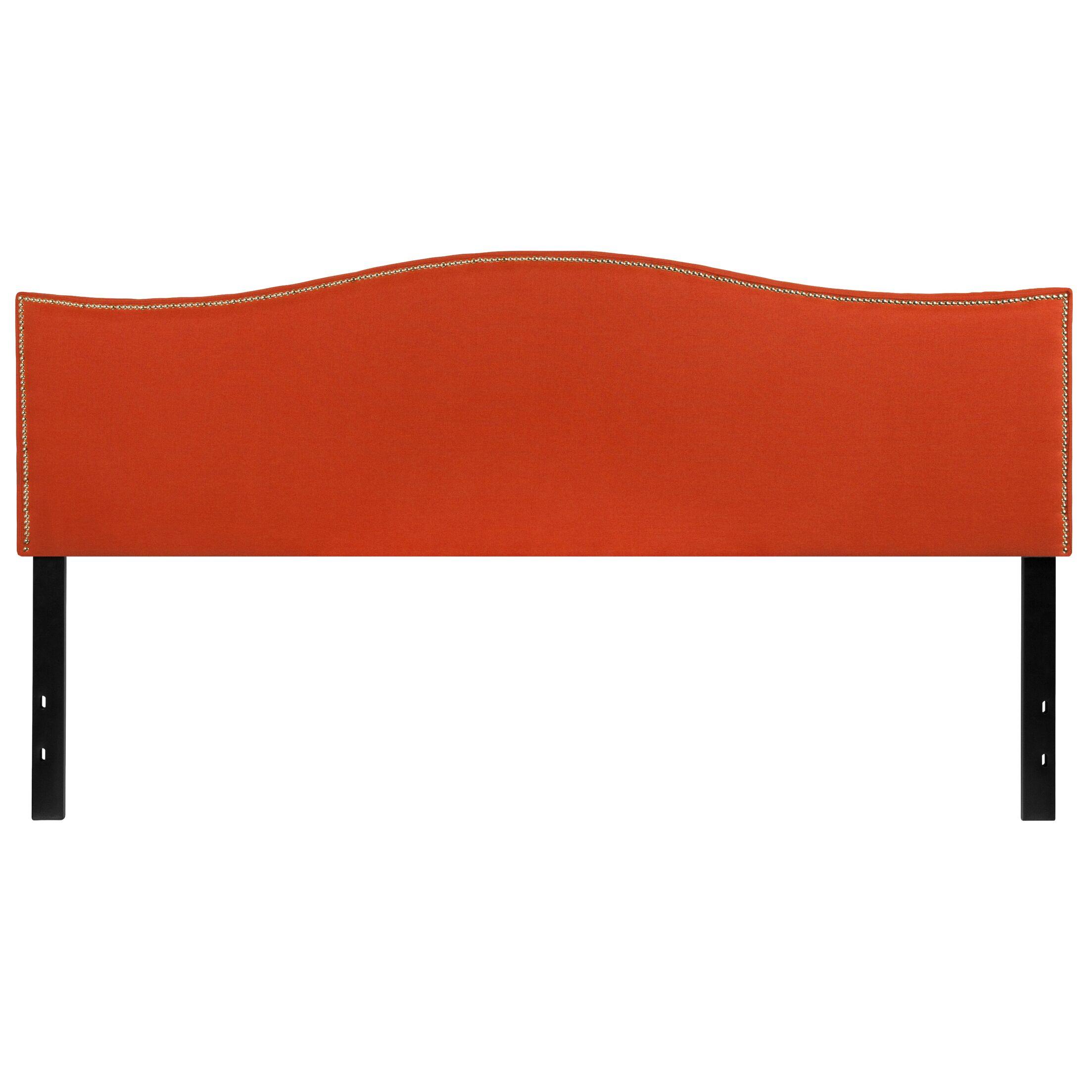 Fitzsimmons Upholstered Panel Headboard Size: Full, Upholstery: Orange