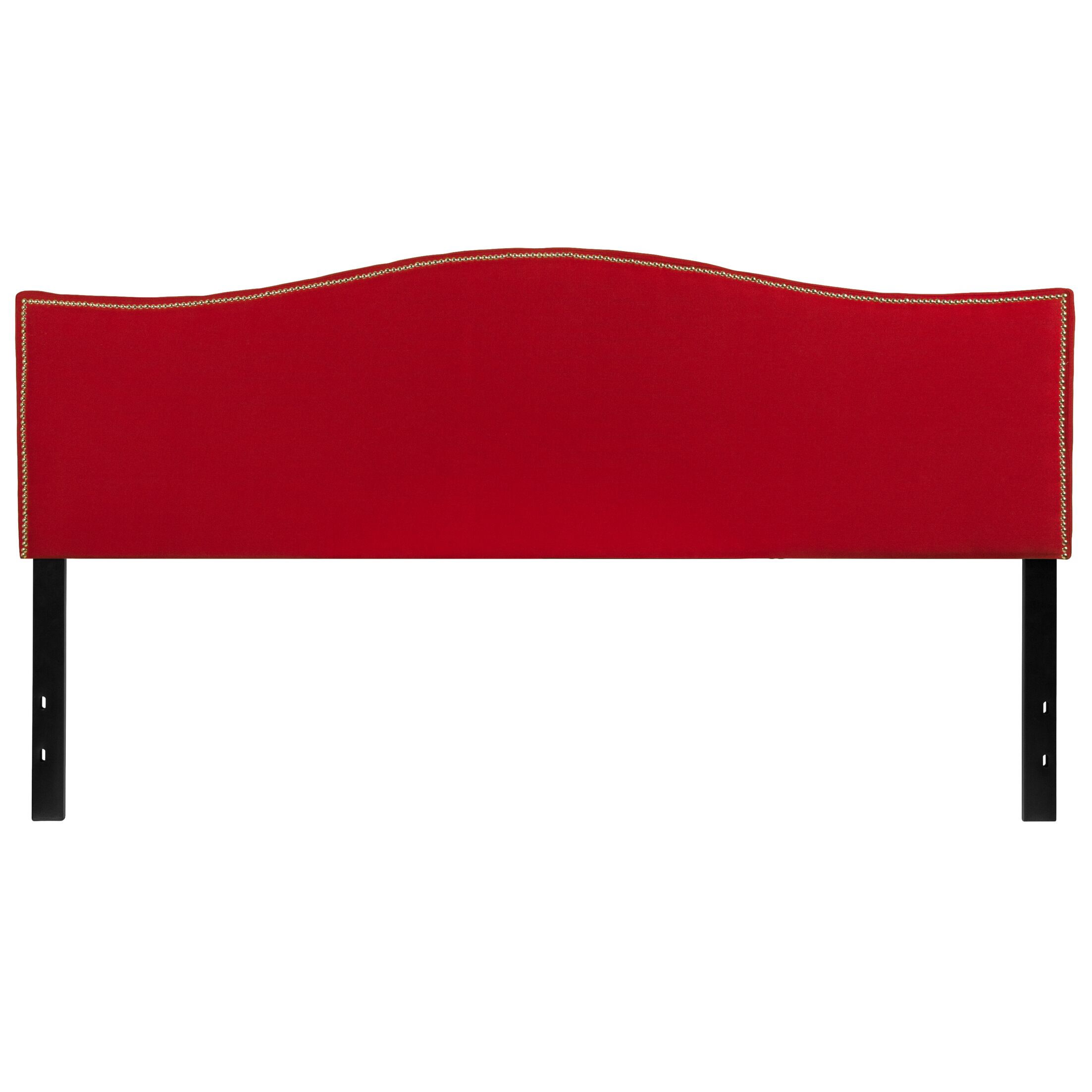 Fitzsimmons Upholstered Panel Headboard Size: Queen, Upholstery: Red