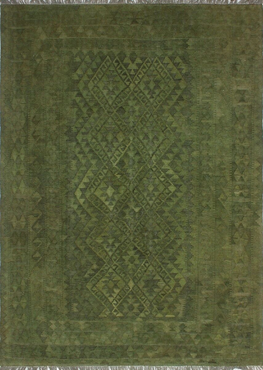 One-of-a-Kind Jacque Hand-Woven Wool Green Area Rug