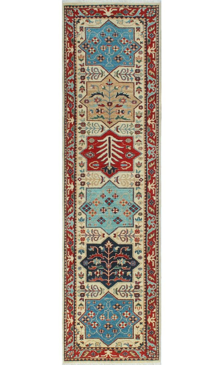 One-of-a-Kind Jacque Hand-Knotted Wool Ivory Area Rug
