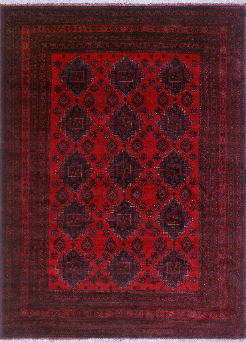 One-of-a-Kind Karan Hand-Knotted Wool Red Area Rug