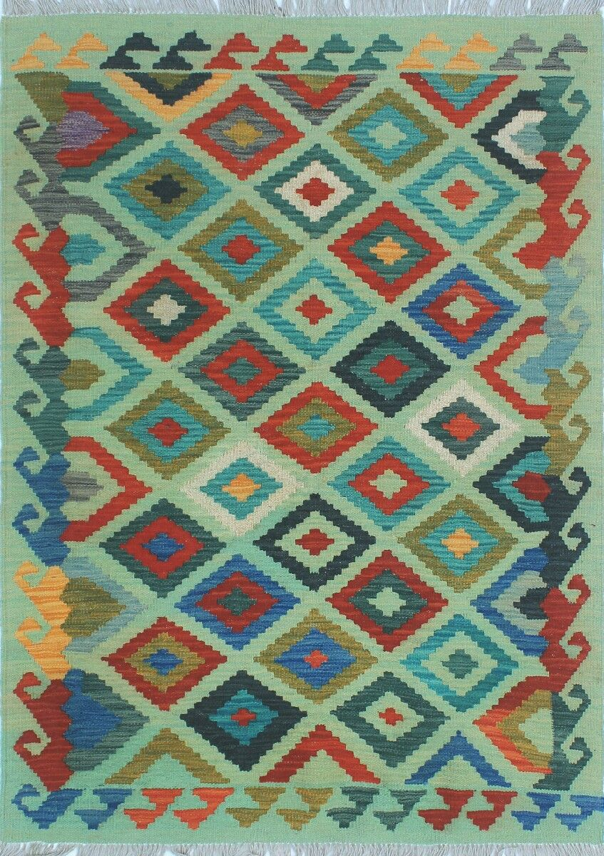 One-of-a-Kind Priston Hand-Woven Wool Green Area Rug