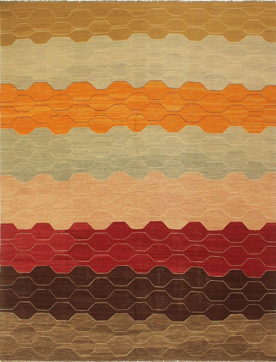 One-of-a-Kind Joellen Hand-Woven Wool Brown/Beige Area Rug