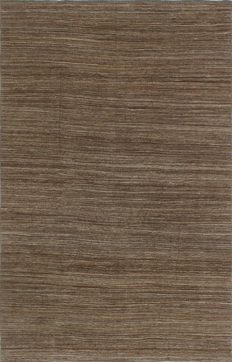 One-of-a-Kind Lizabeth Hand-Woven Wool Brown Area Rug