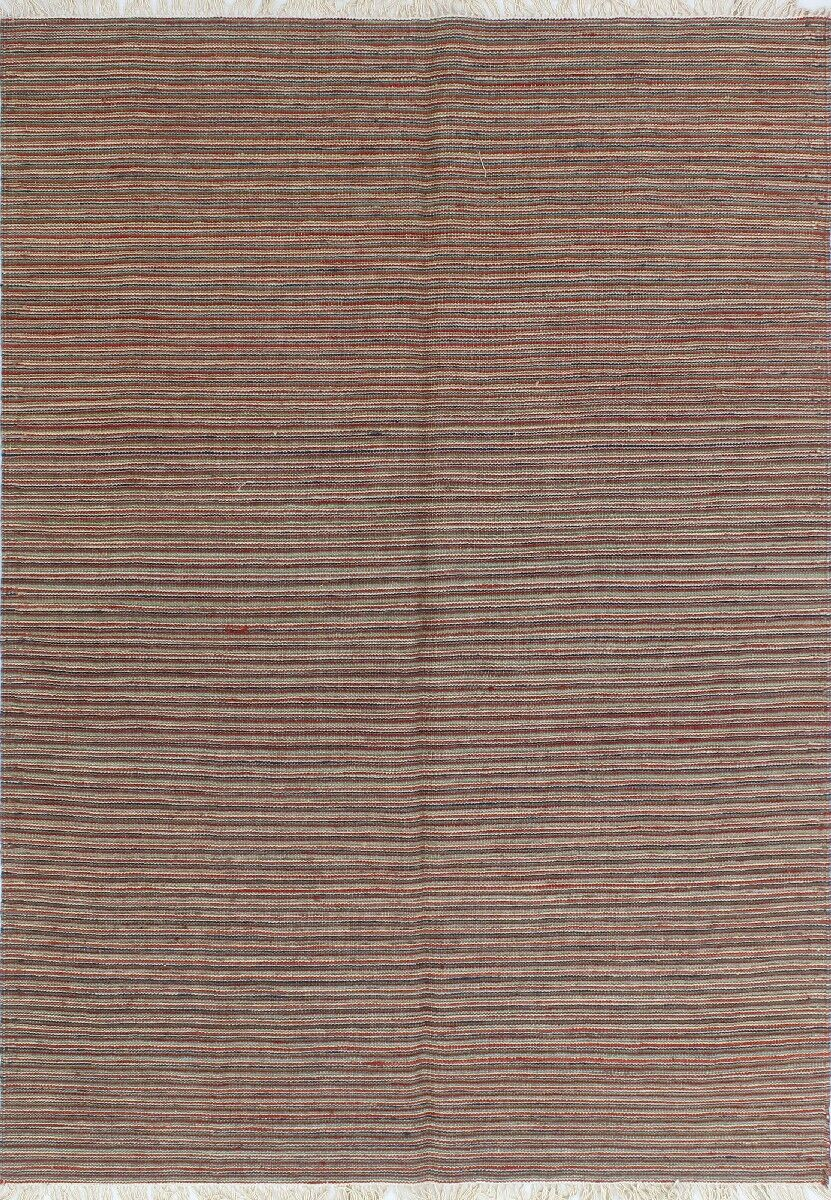 One-of-a-Kind Priston Hand-Woven Wool Blue/Red Area Rug