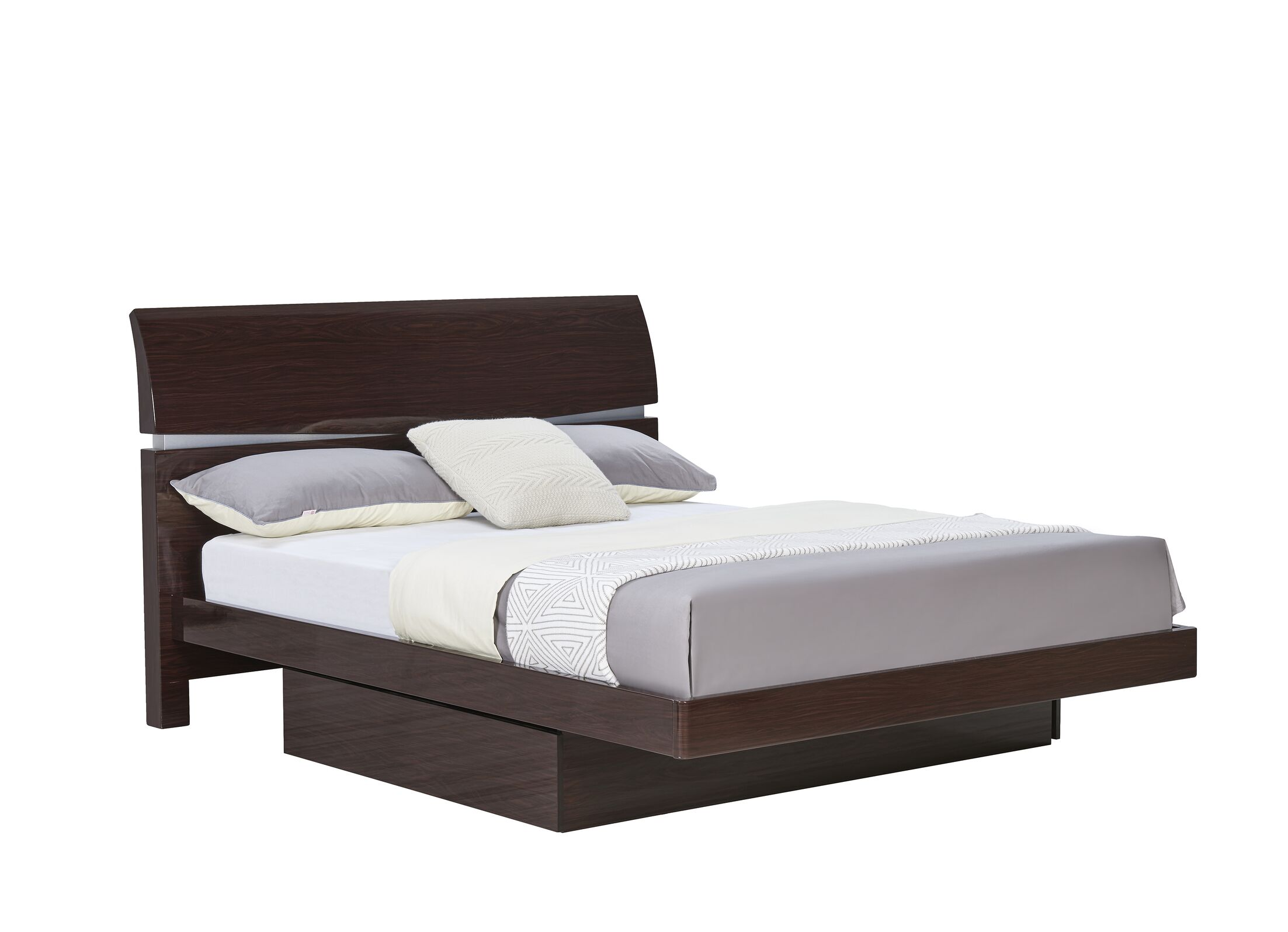 Sanmiguel Storage Panel Bed Color: Cappuccino, Size: King