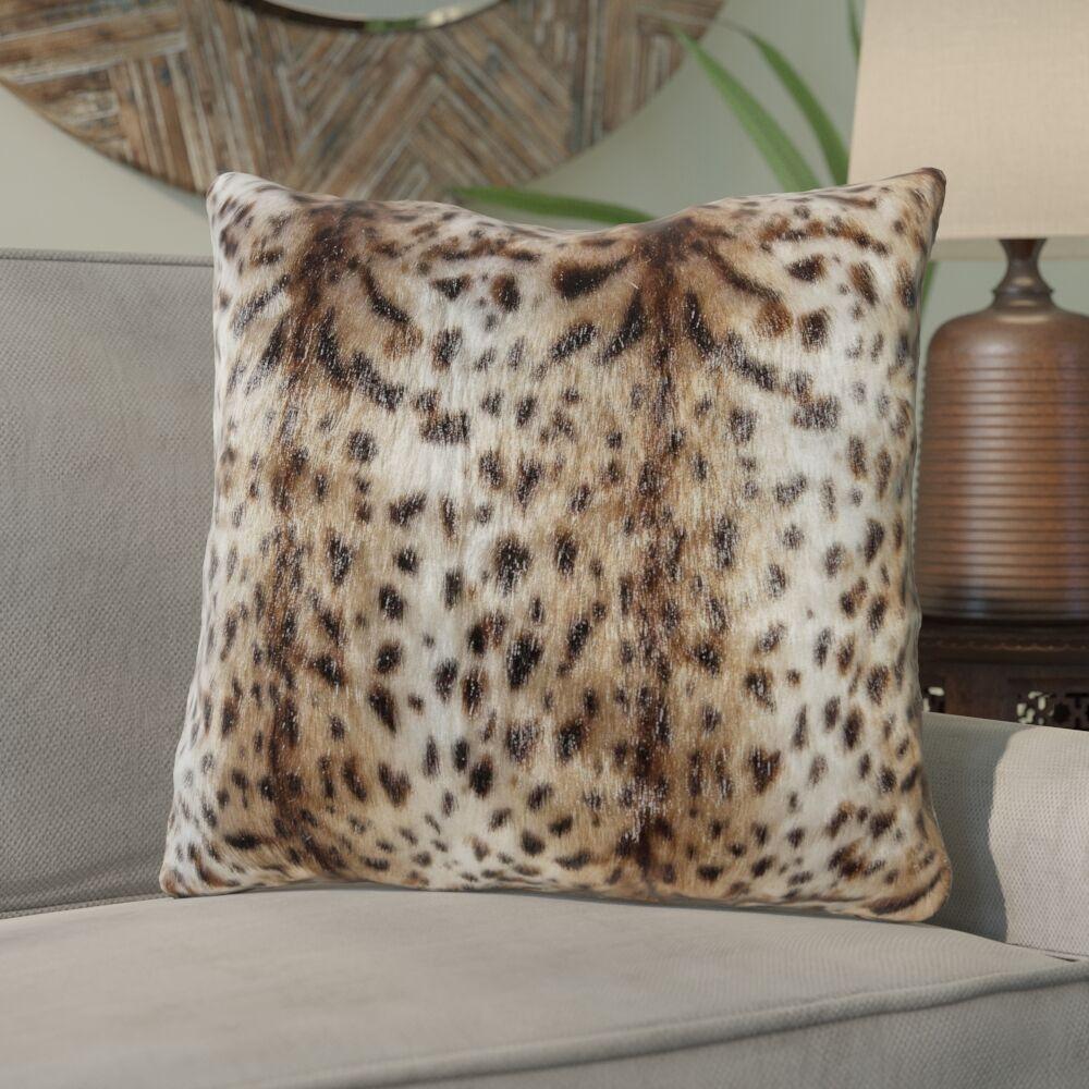 Roisin Jaguar Fur Throw Pillow