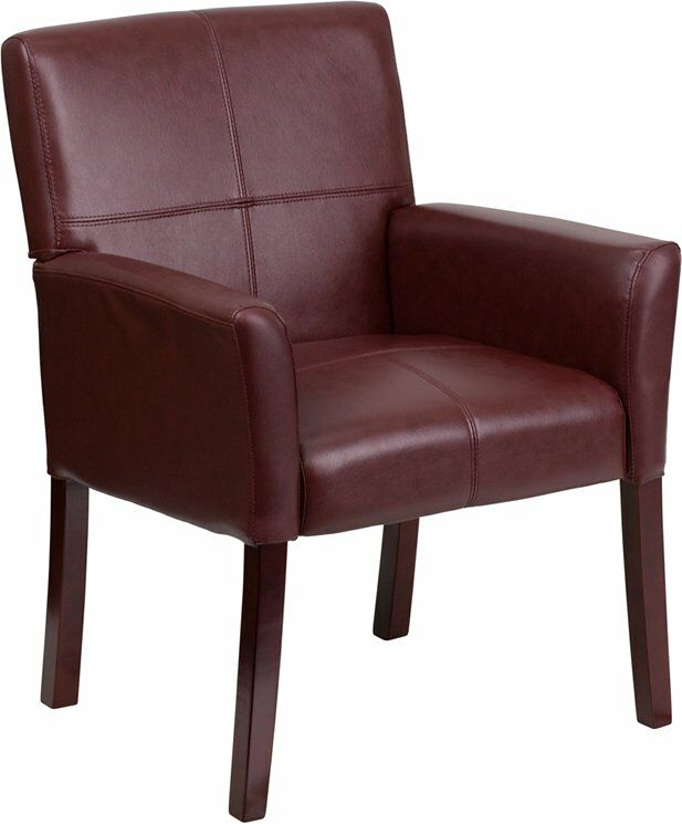 Dunson Leather Executive Guest Chair Seat Color: Burgundy