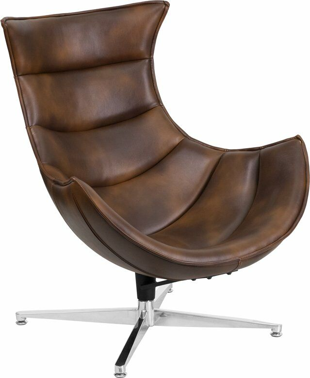 Wheatley Leather Lounge Chair Seat Color: Bomber