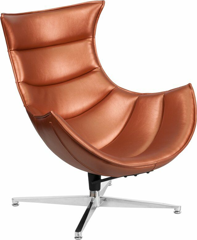 Wheatley Leather Lounge Chair Seat Color: Copper