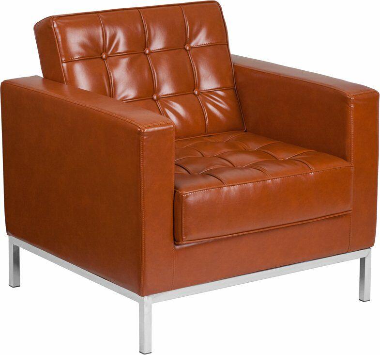 Wheatley Leather Guest Chair Seat Color: Cognac