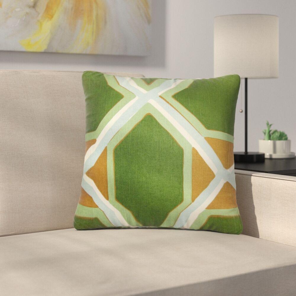 Bullis Geometric Cotton Throw Pillow Color: Malachite, Size: 22