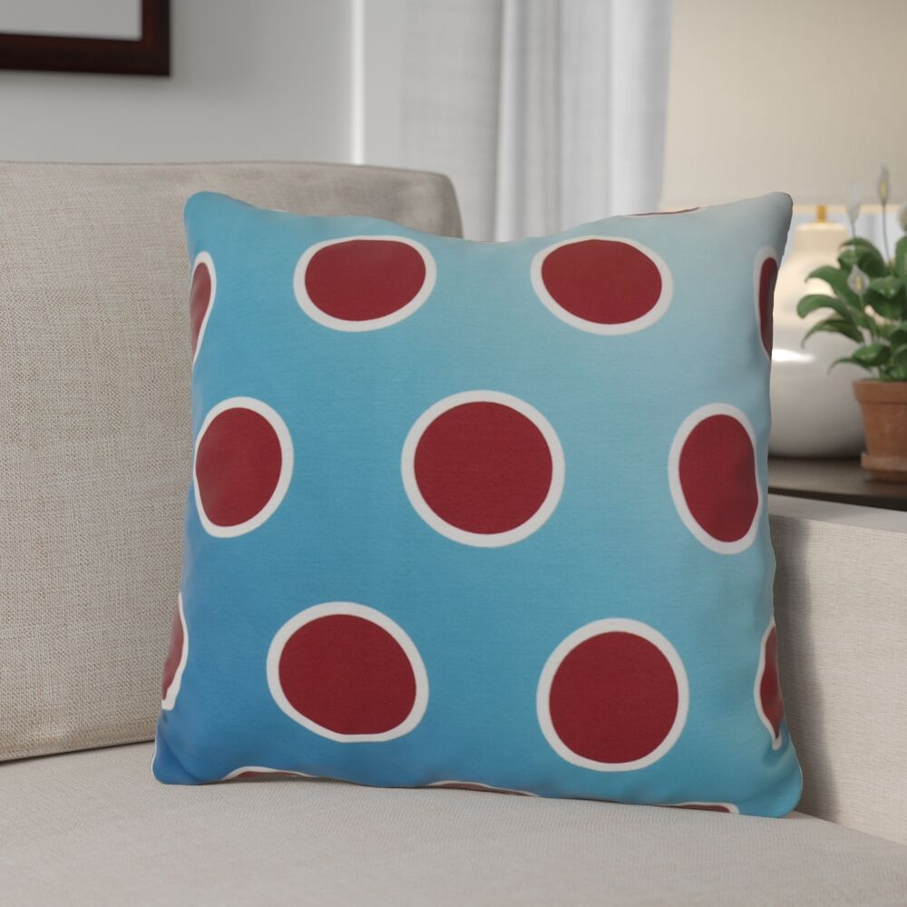 Holiday Bubbly Decorative Outdoor Throw Pillow Color: Teal, Size: 20