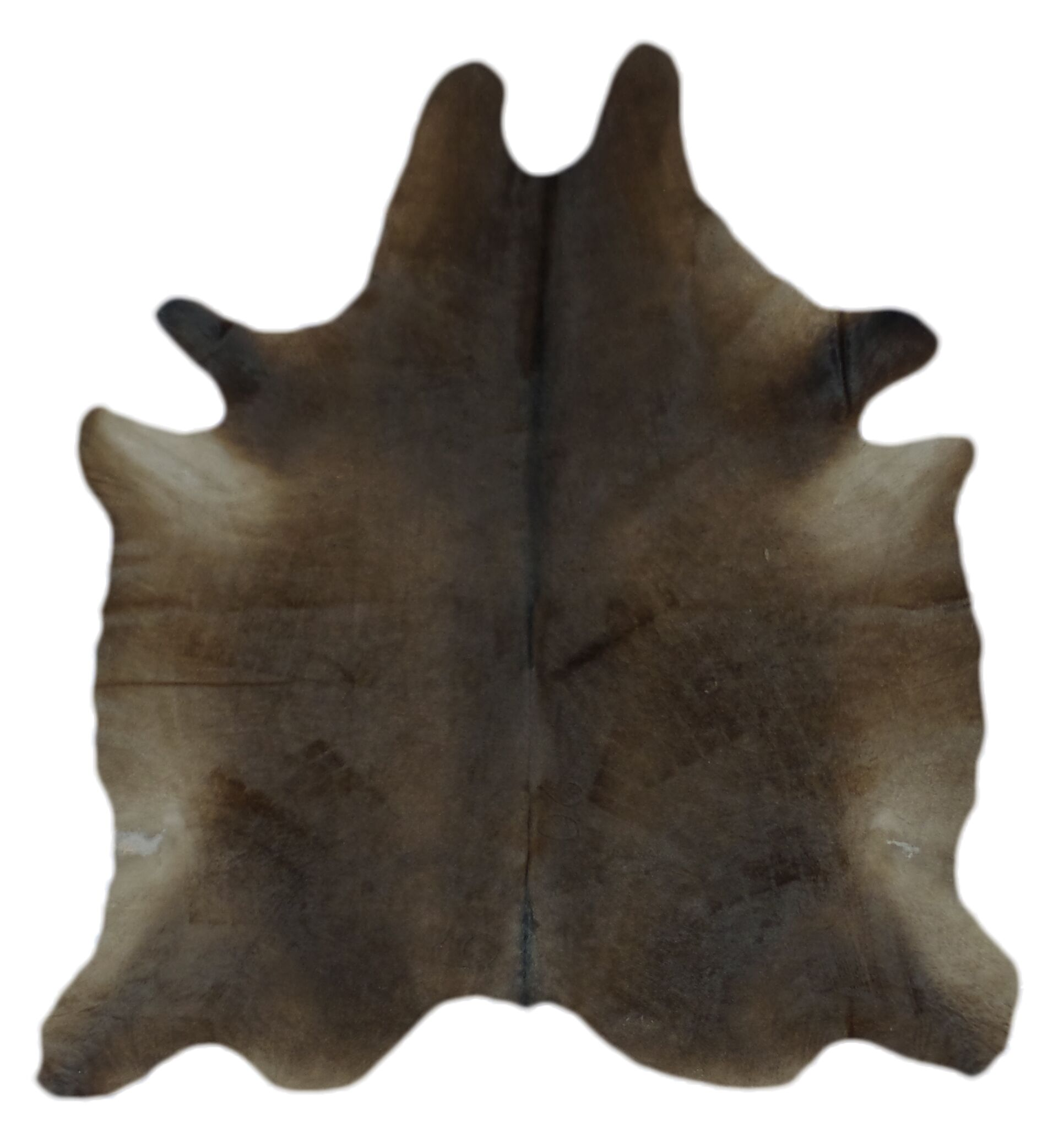 One-of-a-Kind Cohee Hand-Woven Cowhide Chocolate Area Rug
