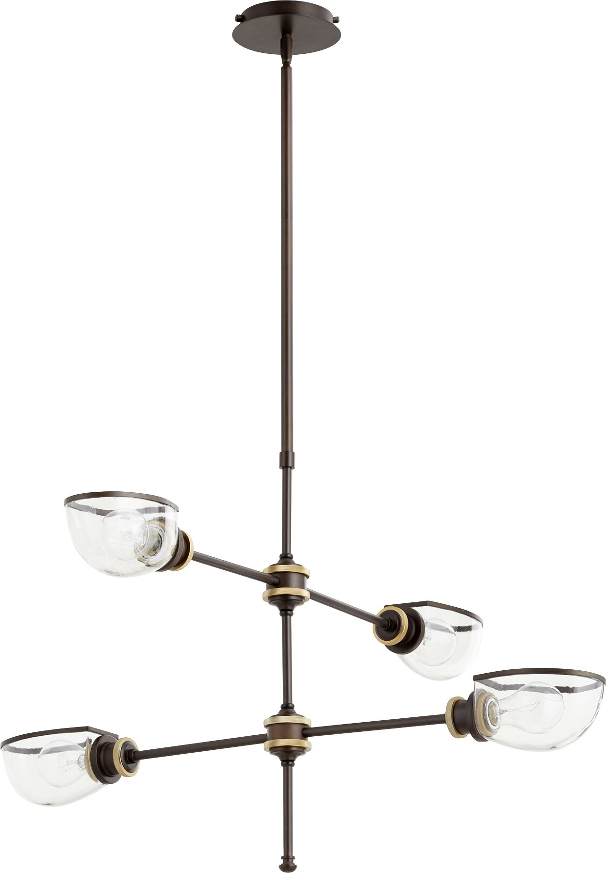 Digiovanni 4-Light Shaded Chandelier Finish: Aged Brass Oiled Bronze