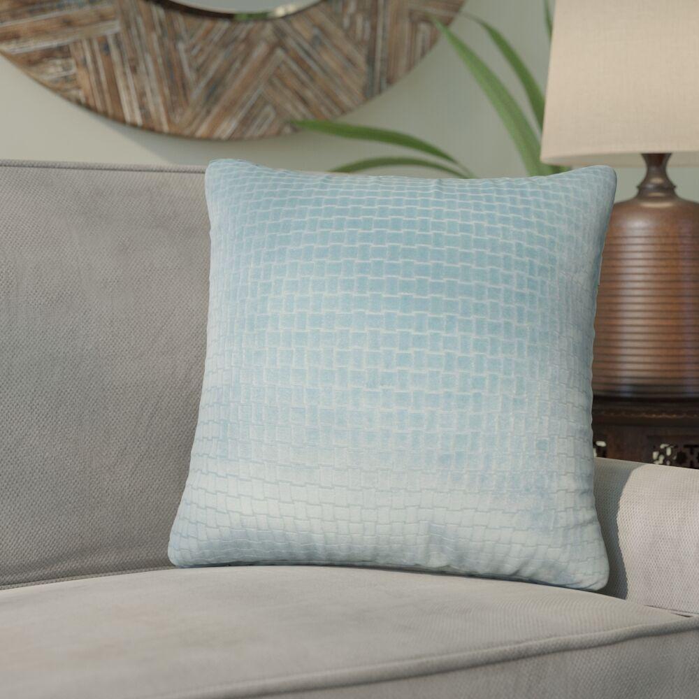 Karen Solid Throw Pillow Color: Light Blue