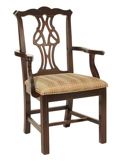 Dining Chair Upholstery Color: Howdy Taupe, Frame Color: Kensington Maple