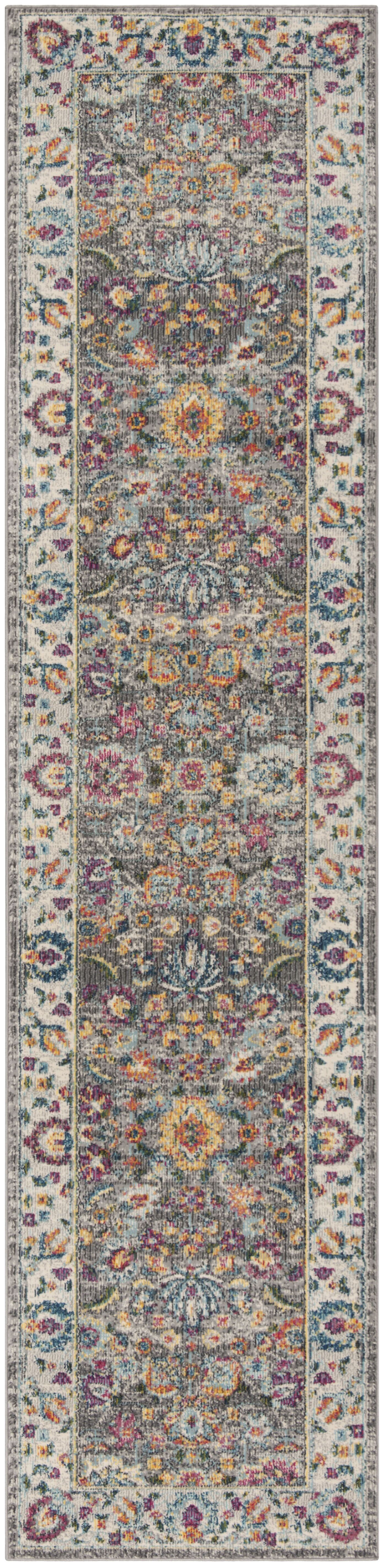 Doucet Gray/Pink Area Rug Rug Size: Runner 2' x 8'