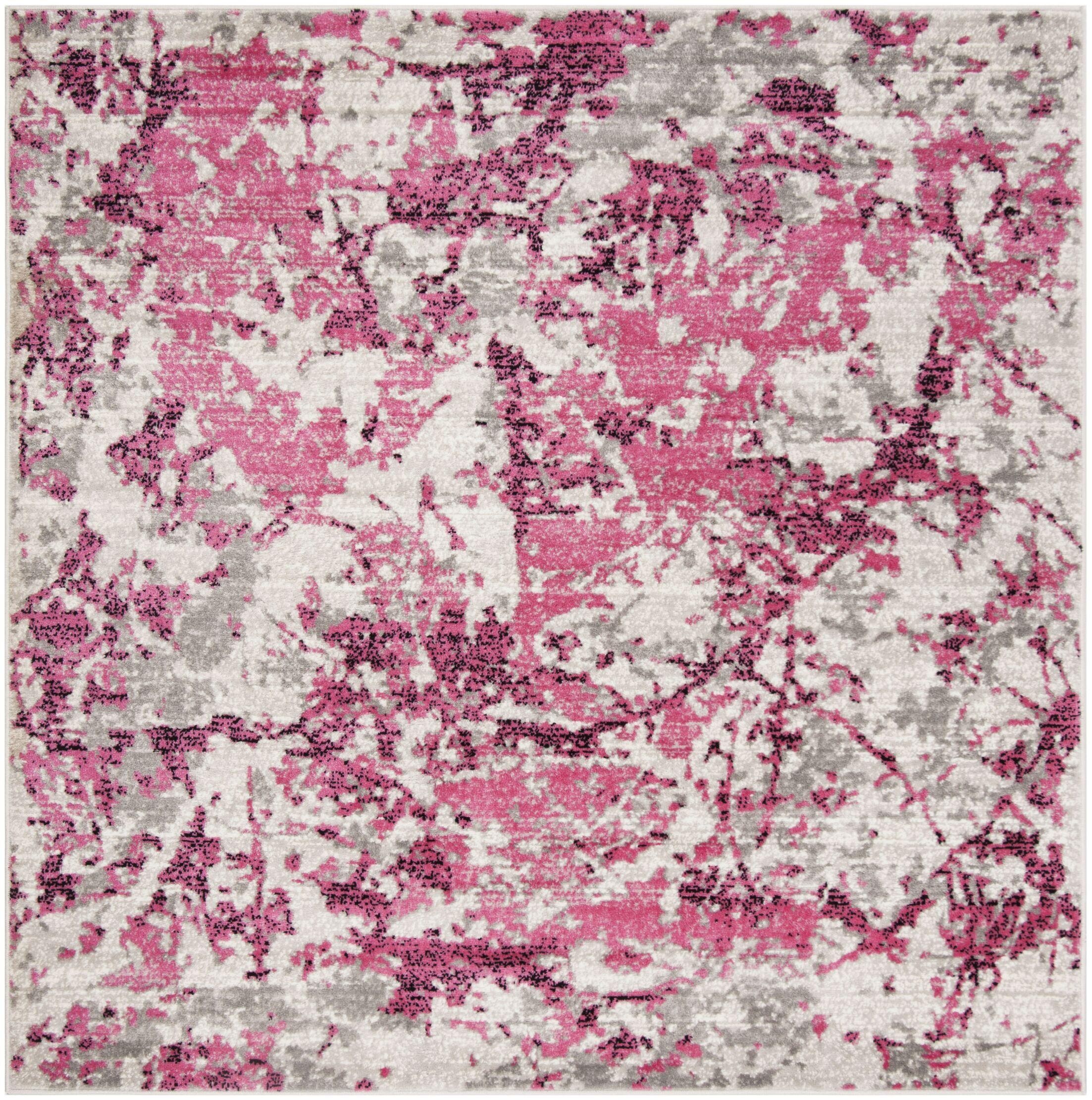 Despain Pink/Ivory Area Rug Rug Size: Square 6'7