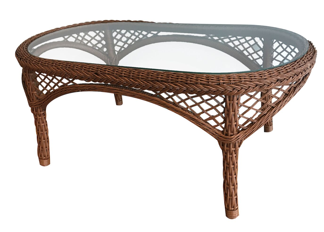 Elkin Resin Wicker Coffee Table Color: Brown