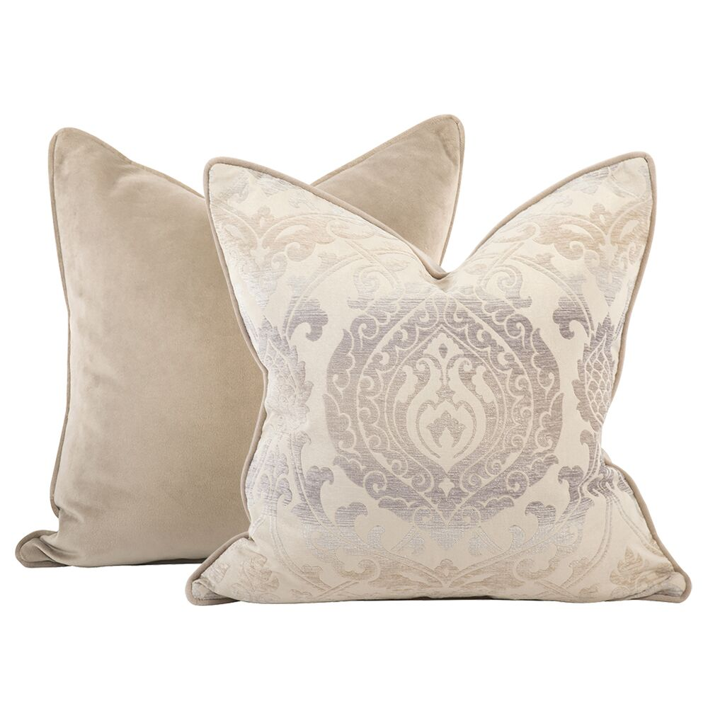 Pickney Damask Throw Pillow Size: 24