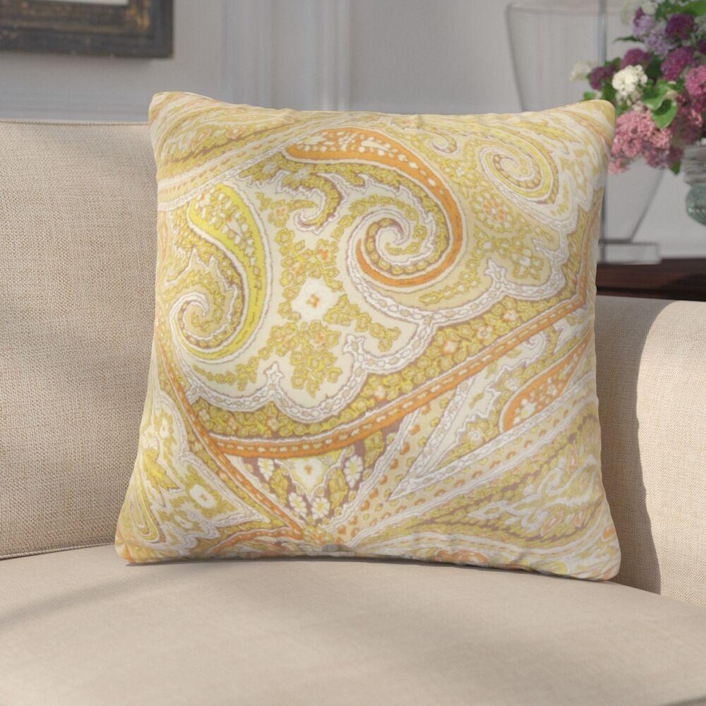 Kayley Paisley Cotton Throw Pillow Color: Kiwi