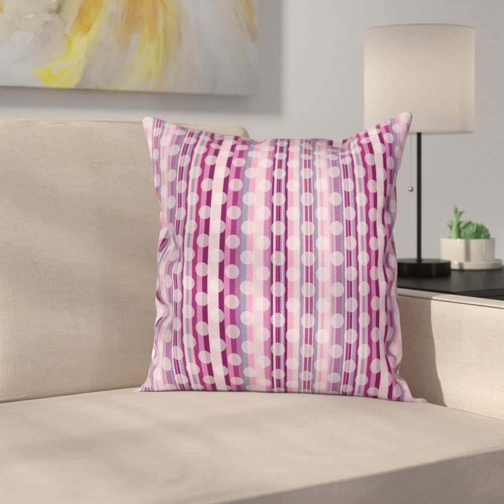 Circular Stripe Pillow Cover Size: 24