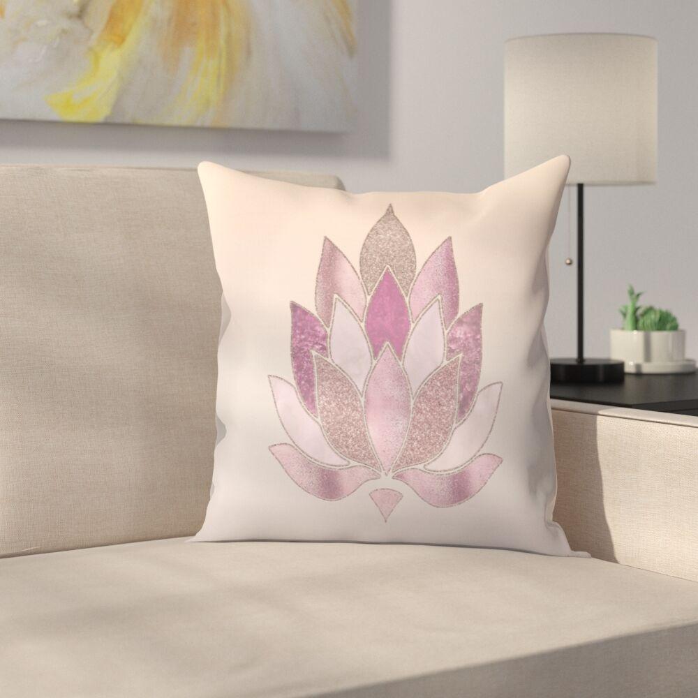 Lotus Throw Pillow Size: 18