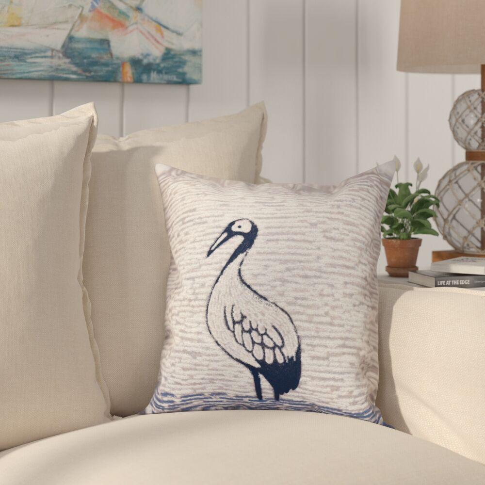 Boubacar Bird Watch Animal Print Throw Pillow Size: 18