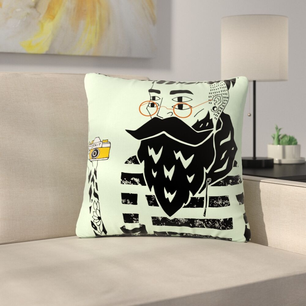 Anya Volk Dreamer 3 Outdoor Throw Pillow Size: 18