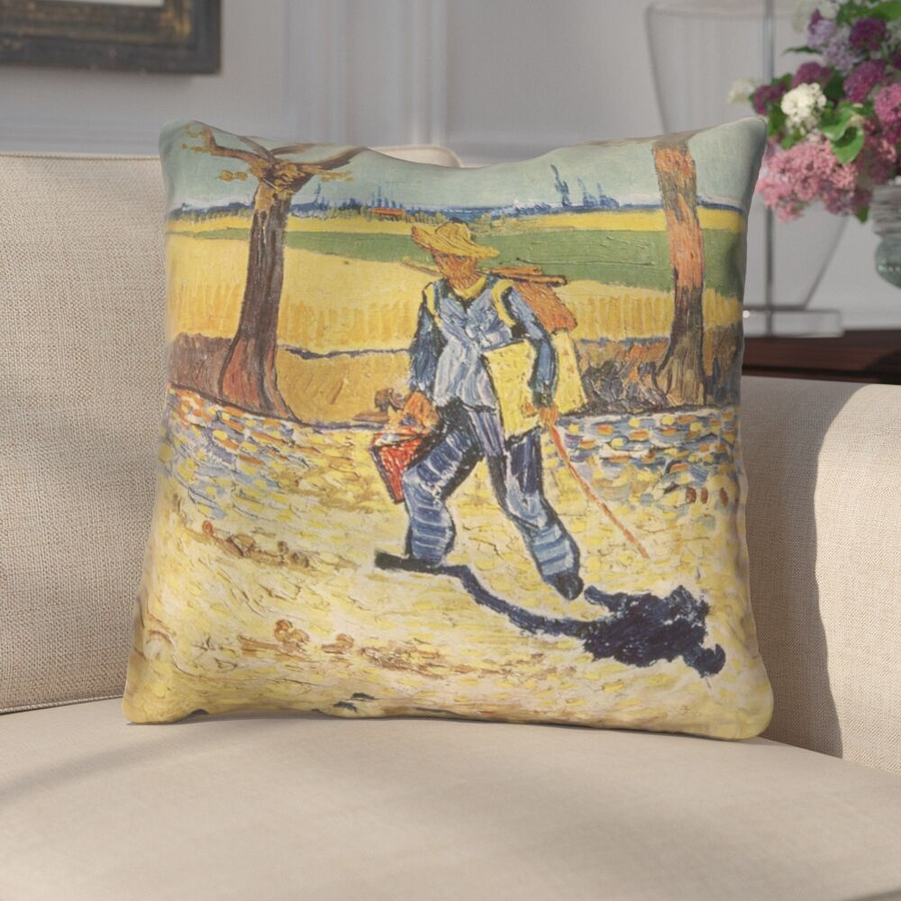 Zamora Self Portrait Square Cotton Throw Pillow Size: 26