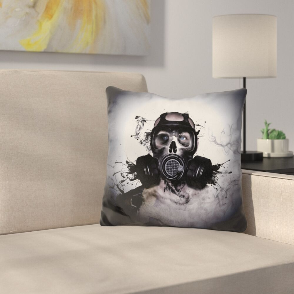 Zombie Warrior Throw Pillow