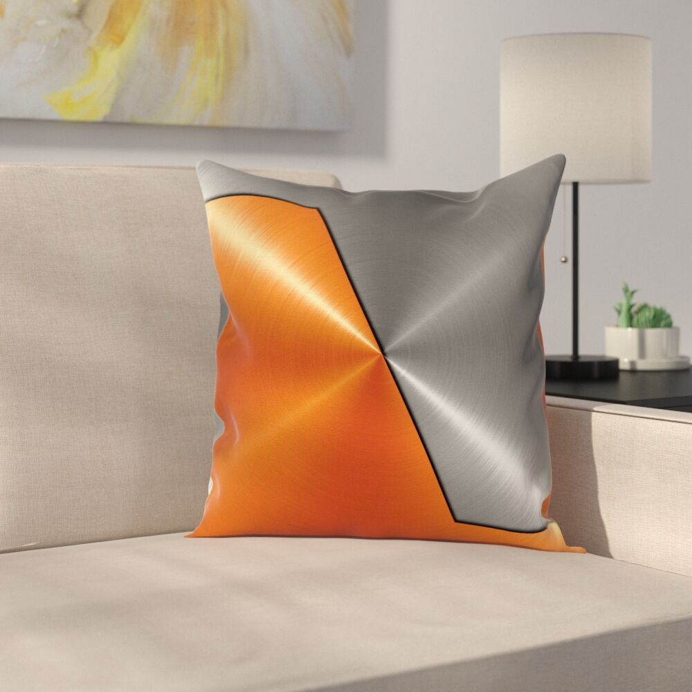 Machinery Modern Square Pillow Cover Size: 18