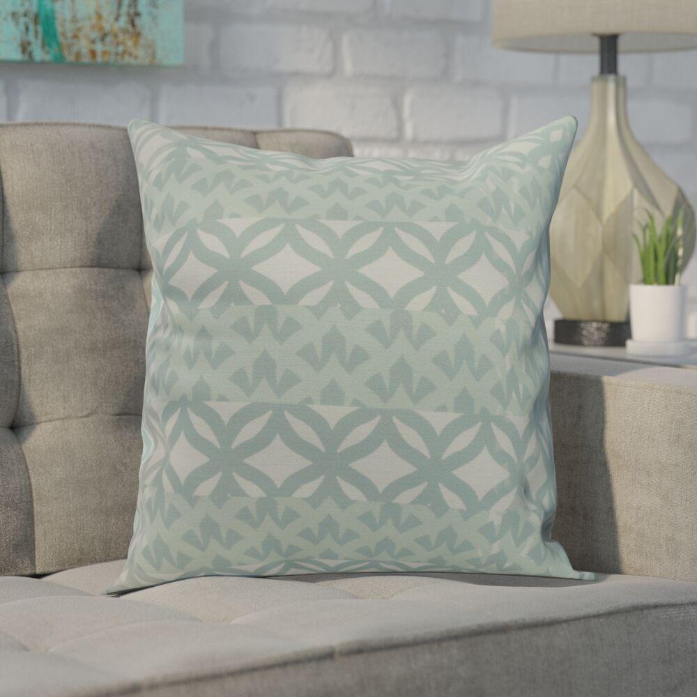 Carmean Throw Pillow Color: Aqua, Size: 20