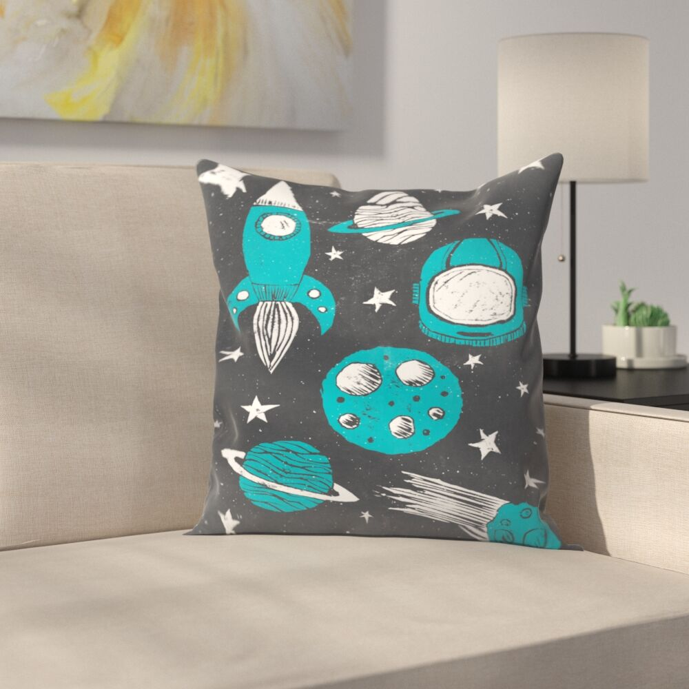 Space Age Throw Pillow Size: 14