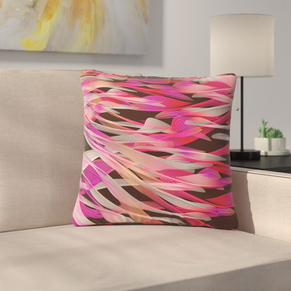 Angelo Cerantola Tropical Electric Abstract Outdoor Throw Pillow Size: 18