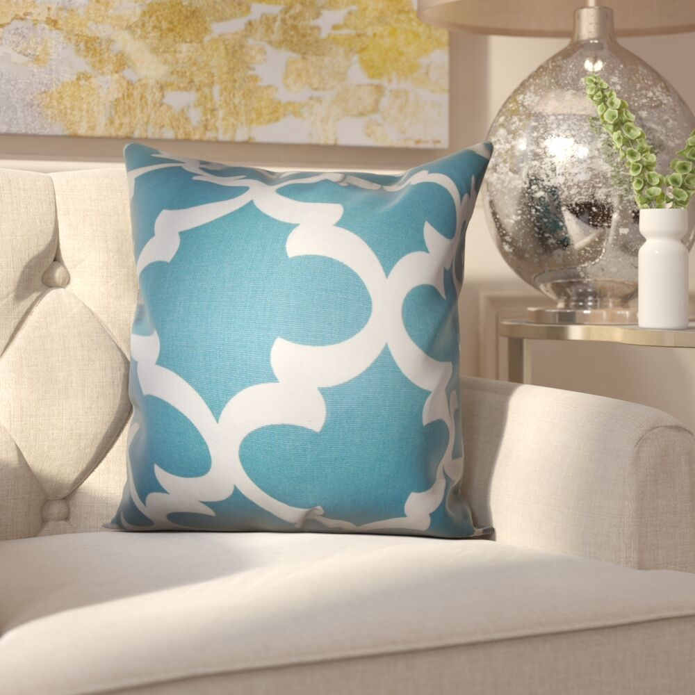 Clyburn 100% Cotton Throw Pillow Color: Regatta, Size: 18