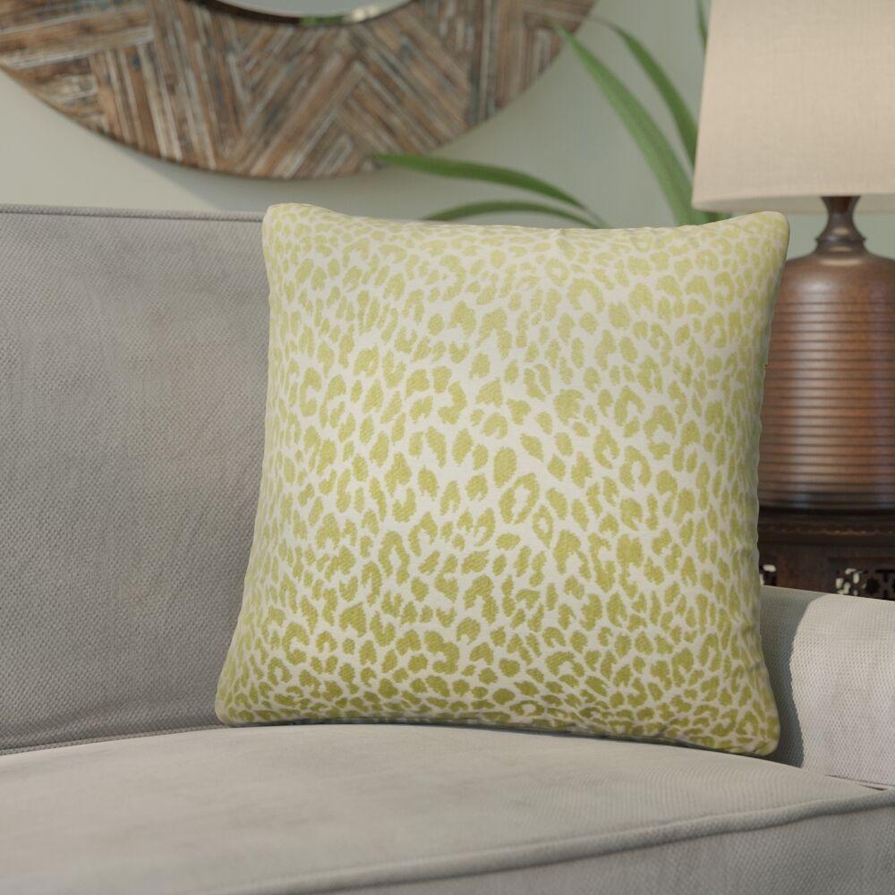 Willia Animal Print Throw Pillow Color: Kiwi