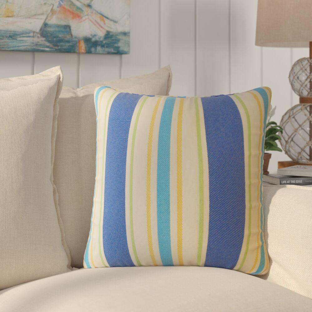 Jolana Striped Down Filled Throw Pillow Size: 22
