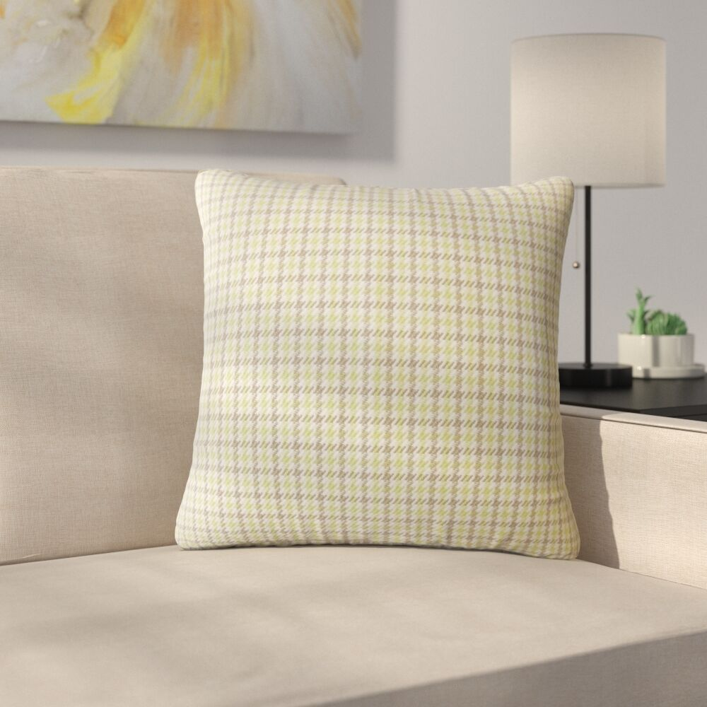 Bamburgh Plaid Down Filled 100% Cotton Throw Pillow Size: 20