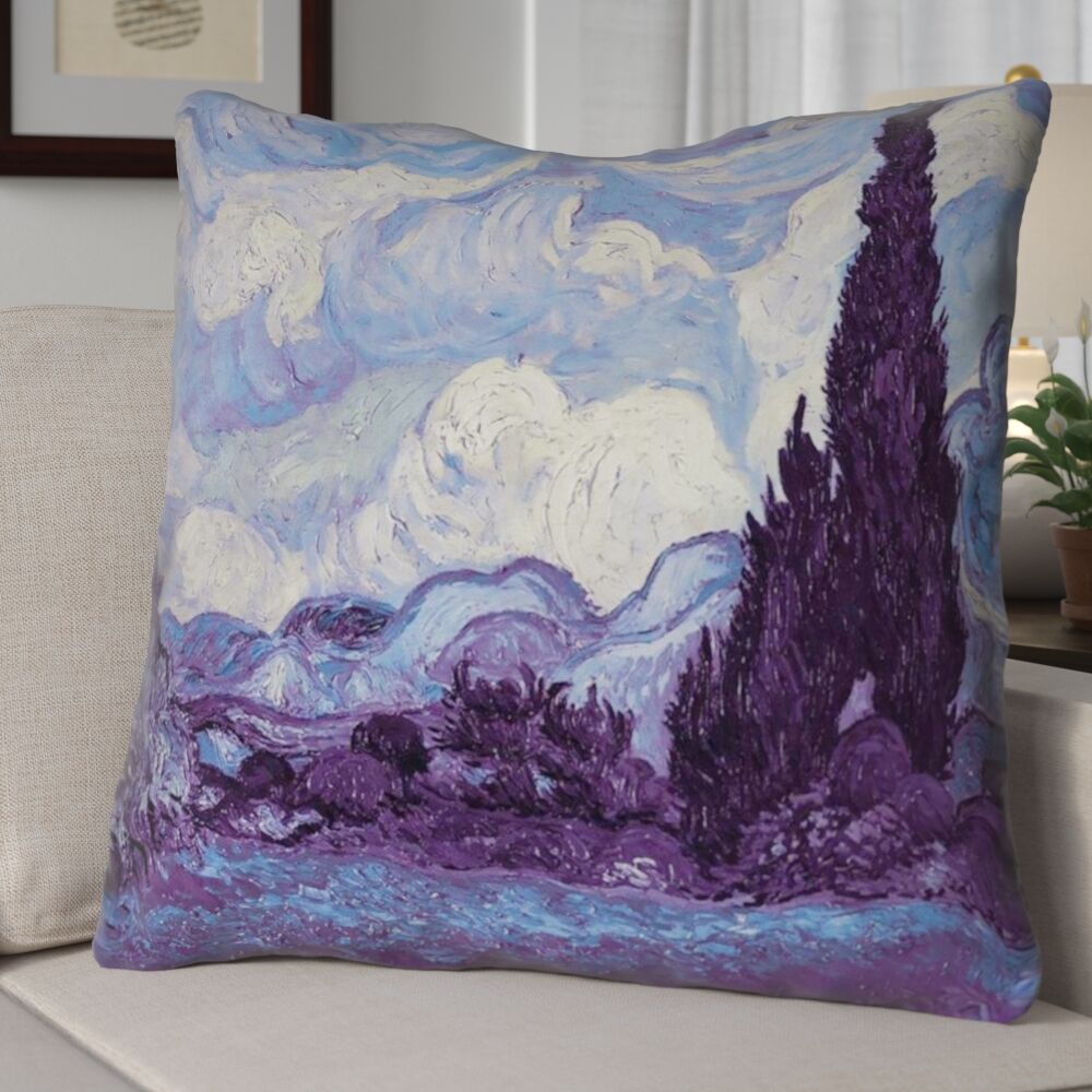 Morley Wheat Field with Cypresses Square Euro Pillow