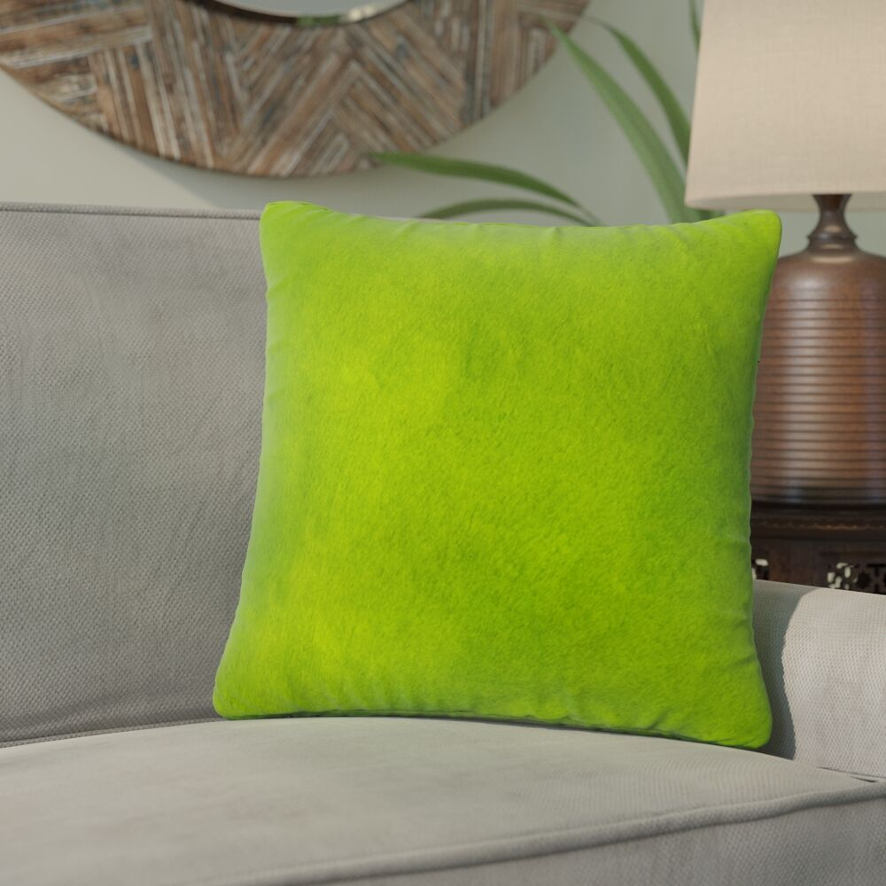 Graham Leather Throw Pillow Color: Lime