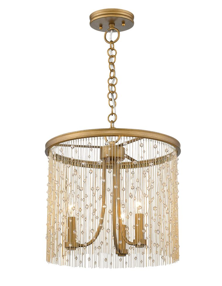 Latrell 3-Light Drum Chandelier Color: Crystal Beads