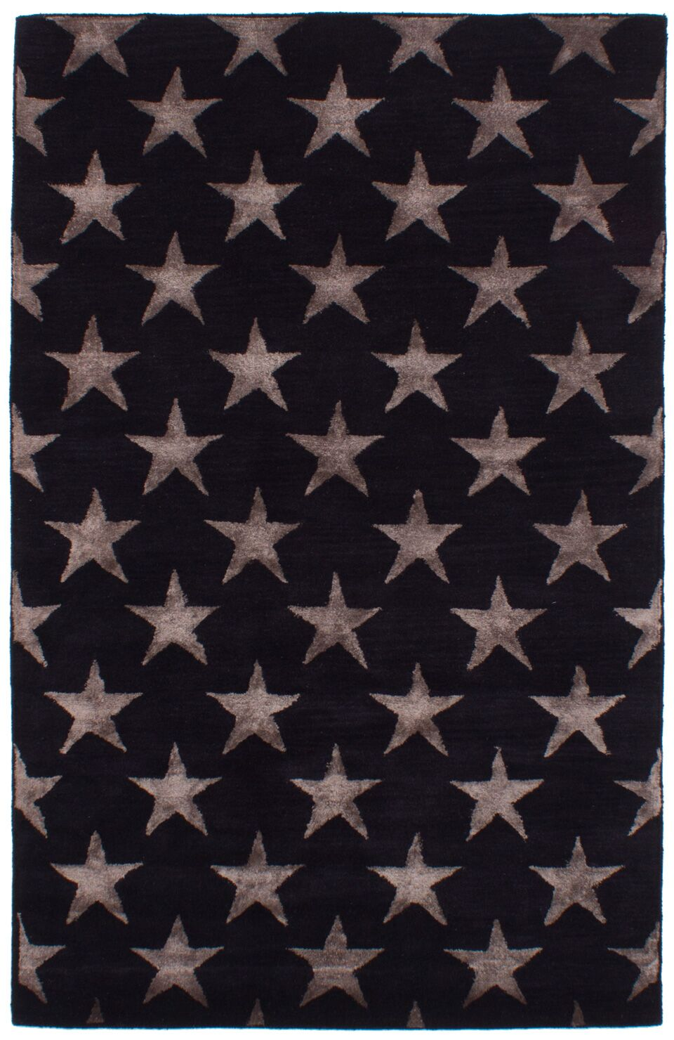 Dimas Abstract Art Hand-Tufted Wool/Silk Black Area Rug