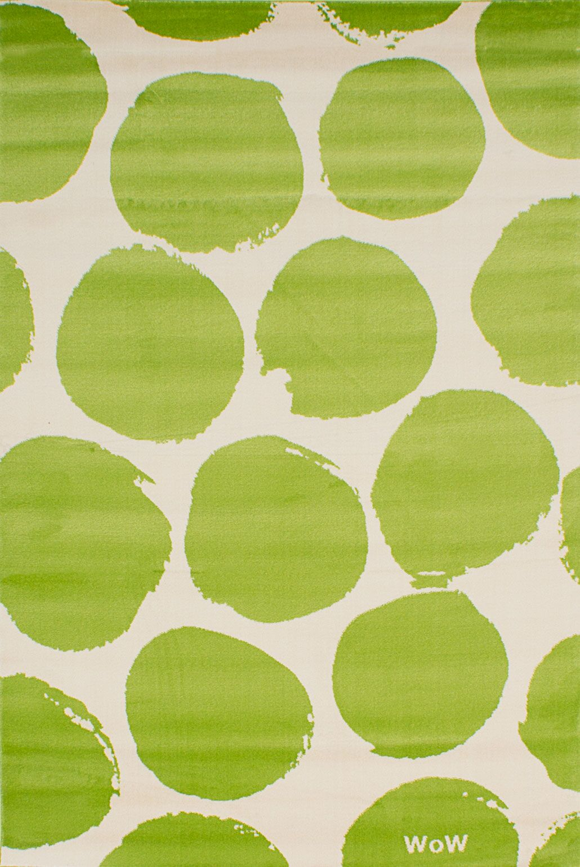 Leeper Cream/Light Green Area Rug